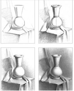 still life drawing pencil ~ still life drawing . still life drawing pencil . still life drawing for beginners . still life drawing ideas . still life drawing colour . still life drawing sketches . still life drawing easy . still life drawing objects Shading Drawing, Basic Drawing, Drawing Lessons, Drawing Techniques, Painting & Drawing, Watercolor Techniques, Painting Vases, Wall Drawing, Painting Flowers