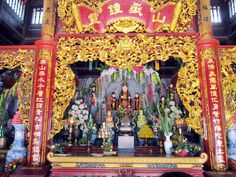 Liễu Hạnh is one of the Four Immortals, divine beings worshipped by the people of Vietnam's folk faith in the Red River Delta region. A daughter of the Jade Emperor, a central deity in Taoism and other East Asian theology, She has been incarnated on earth multiple times. Liễu Hạnh supports female emancipation, poetry and is an embodiment of female power.