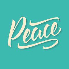 Peace. Lettering. Calligraphy text. Handwriting. Brush pen. Welcome to my portfolio http://www.shutterstock.com/g/Viktor+Z?rid=2435732