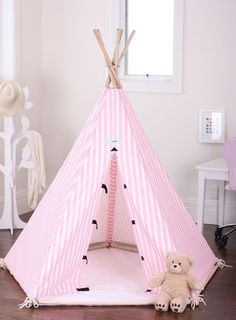 New Kids Childrens Play House Indoor Pink Tent Teepee Teepees Tipi Fort