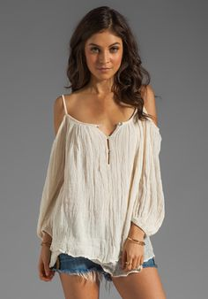 JENS PIRATE BOOTY Gauze Bowie Blouse in Natural at Revolve Clothing - Free Shipping!