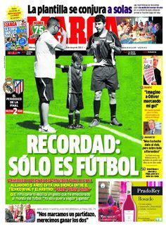Recordad: Sólo es fútbol / Portada del 15 de Mayo de 2013