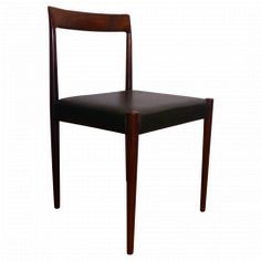 Suite de 4 chaises en pallisandre lubke