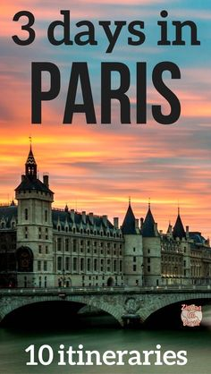 Paris Travel Itinerary - Find 10 suggestion on how to spend 3 days in Paris. Make the best of your long weekend in Paris France depending on what you like #Paris | things to do in Paris | Paris Art | Paris ideas #Paristravel