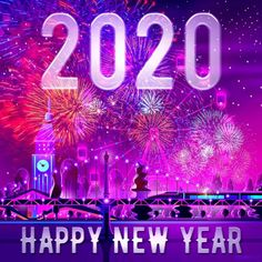 Happy New Year 2020 - Megaport Media Happy New Year Quotes, Quotes About New Year, Happy New Year 2020, New Year London, Share Pictures, Native Advertising, Animated Gifs, New Years Decorations, Art And Technology