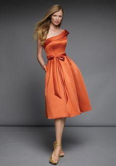 Cheap Bridal Shop 2013 Popular Orange Sash One Shoulder Taffeta ...