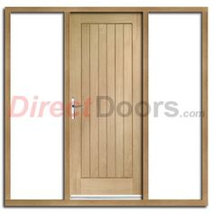 Cottage 4L Exterior Oak Double Door and Frame Set with Clear