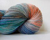 Hand dyed Superwash Merino & Nylon Sock Yarn - Caged Wisdom