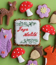 Royal icing and fondant, stamped and edible food paint