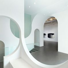 Beijing art gallery by Penda features topsy-turvy archways