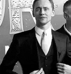 Tom Hiddleston - gif I feel like he's getting himself ready for me ;) lol I'd be like you look amazing just the way you are ❤