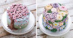 15  krásnych tort, ktoré vyzerajú ako rozkvitnuté kytice kvetov. Dezerty nevyzerali nikdy lákavejšie! Rozkvitnuté torty, jarné dezerty, kvety, dorty, umenie