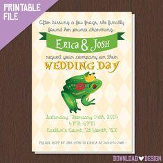 Frog Prince And Princess Wedding Invitations Wedding Pinterest