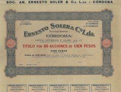 Ernesto Soler & C.ia L.da - #scripomarket #scriposigns #scripofilia #scripophily #finanza #finance #collezionismo #collectibles #arte #art #scripoart #scripoarte #borsa #stock #azioni #bonds #obbligazioni