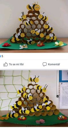 Preschool Insect Crafts For Kids Insect Crafts, Bee Crafts, Diy And Crafts, Arts And Crafts, Kindergarten Crafts, Preschool Crafts, Craft Projects, Crafts For Kids, Children Crafts