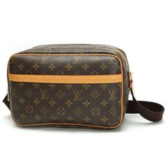 Louis Vuitton Reporter PM Monogram Shoulder bags Brown Canvas M45254