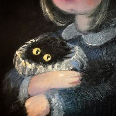 Kevin the Kitten {Vanessa Stockard} Black Cat Painting, Memes Arte, Arte Horror, Aesthetic Art, Cute Drawings, Cat Art, Les Oeuvres, Art Inspo, Amazing Art