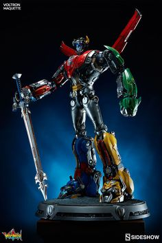 Sideshow®, is proud to announce the debut of its Voltron Maquette, based on the legendary character design from the cartoon. Gundam, Super Robot Taisen, Battle Bots, Voltron Force, Robot Cartoon, Anime Merchandise, Sideshow Collectibles, Irezumi, Dreamworks