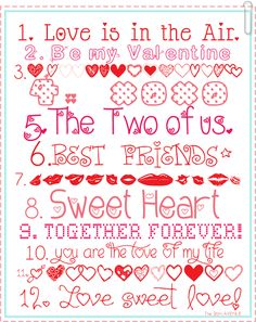 12 Free Valentine Fonts and links to download them over at the36thavenue.com #yearofcelebrations