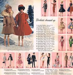 barbie fashions 1964