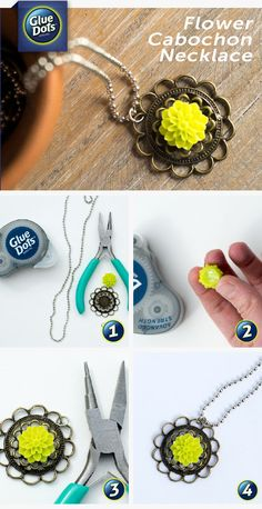 Who would have thought jewelry projects could be so easy? Forget the messy glue and substitute Glue Dots®️️️️️️️️ as the adhesive in this beginner necklace craft.