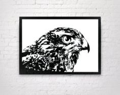 Hawk - Handmade Original Paper Cut Home Decor - UNFRAMED