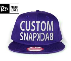 828139d2182 New era purple Snapback. Customize with your own text. New Era Snapback