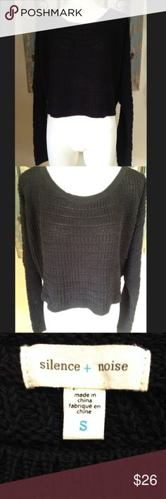 NWOT UO silence + noise crop sweater New without tags! Sweater is 16 inches in length. 94% cotton and 4% other fibers. Hand washable. Smoke free and pet free home. Bundle your order and save 20%!! Urban Outfitters Sweaters