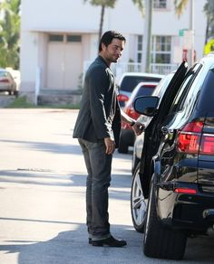 Puerto Rican Latin pop singer Chayanne was spotted getting into his black BMW X5 M in Miami