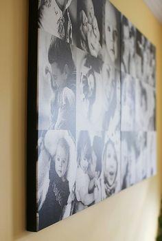 how to create a wall o' canvas | the creative mama...http://thecreativemama.com/how-to-create-a-wall-o-canvas/#