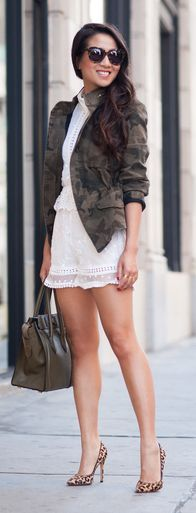 White Embroidered Romper by Wendy's Lookbook