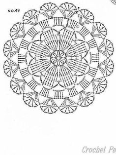 Captivating All About Crochet Ideas. Awe Inspiring All About Crochet Ideas. Crochet Motif Patterns, Crochet Diagram, Crochet Chart, Thread Crochet, Crochet Doilies, Crochet Flowers, Crochet Stitches, Crochet Circles, Crochet Round