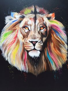 The Color King 1.20m x 1.m  Acrylic