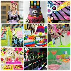Blast from the Past – 80′s inspired Wedding and Party theme – Styling and Moodboard