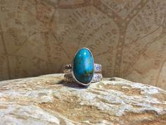 Handcrafted Turquoise and Sterling Silver Ring by Jewelriart on Etsy https://www.etsy.com/listing/250457638/handcrafted-turquoise-and-sterling