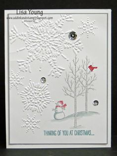 White Christmas Snowfall by genesis - Cards and Paper Crafts at Splitcoaststampers
