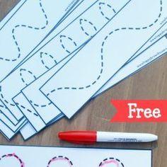 FREE Tracing Lines PreK Printables