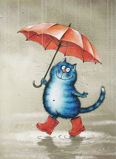it's raining cats and dogs....