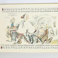 Martin Benka Lullabies collection of 9 color lithographs on paper, cm Wyoming, Starters, Childrens Books, Auction, Personalized Items, Illustration, Blog, Collection, Ideas