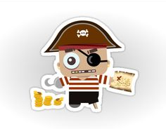 Aye, cute little Baby-Pirate found some gold!