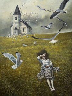 Andrea Kowch - Burton meets Wyeth