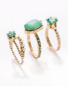 Mint Julep Ring Set