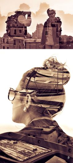Multiple Exposure Series by Simone Primo. I feel as if everyone does a multi exposure project nowadays Photomontage, Creative Photography, Art Photography, Fashion Photography, Multiple Exposure Photography, Experimental Photography, Cool Photos, Photoshop, Sculpture
