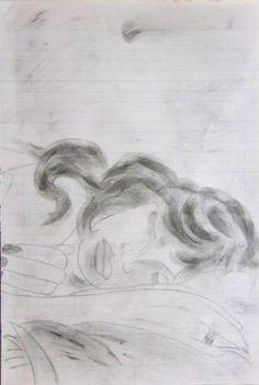 Ao sono - Trabalho criado com lápis 6B.