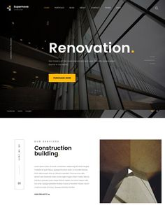 supernova construction website template Header Design, Ux Design, Professional Website Templates, Construction Website, Beautiful Website Design, Website Logo, Creative Web Design, Corporate Website, Portfolio Web Design