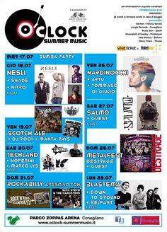 www.oclock-summermusic.it  Festival 17/29 luglio 2013  Parco Zoppas Arena - Conegliano - TV