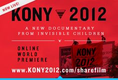 "Support @Invisible Children by watching this moving documentary. Educate yourself. Spread the word. Stop at nothing. #KONY2012  http://vimeo.com/invisible/kony2012    ""Because where you live shouldn't determine whether you live."""