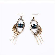 Aliexpress.com : Buy Personality design luxury big eyes female drop earrings punk style vintage earrings jewelry dropshipping Free Shipping ...
