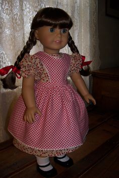 Berry Pickin' Dress and Pinafore for 18inch by ThirdSisterHandmade