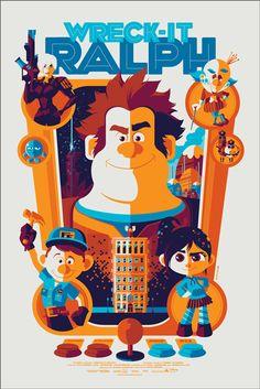 Wreck it Ralph Disney Poster Print by Tom Whalen 24 x 36 Disney Pixar Mondo Reg. Disney Pixar, Disney E Dreamworks, Deco Disney, Art Disney, Film Disney, Disney Kunst, Disney Love, Disney Magic, Tom Whalen